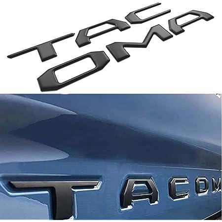 Tailgate Insert Letters 3D Raised & Strong Adhesive Decals Letters, Tailgate Emblems Inserts Letters (Black)