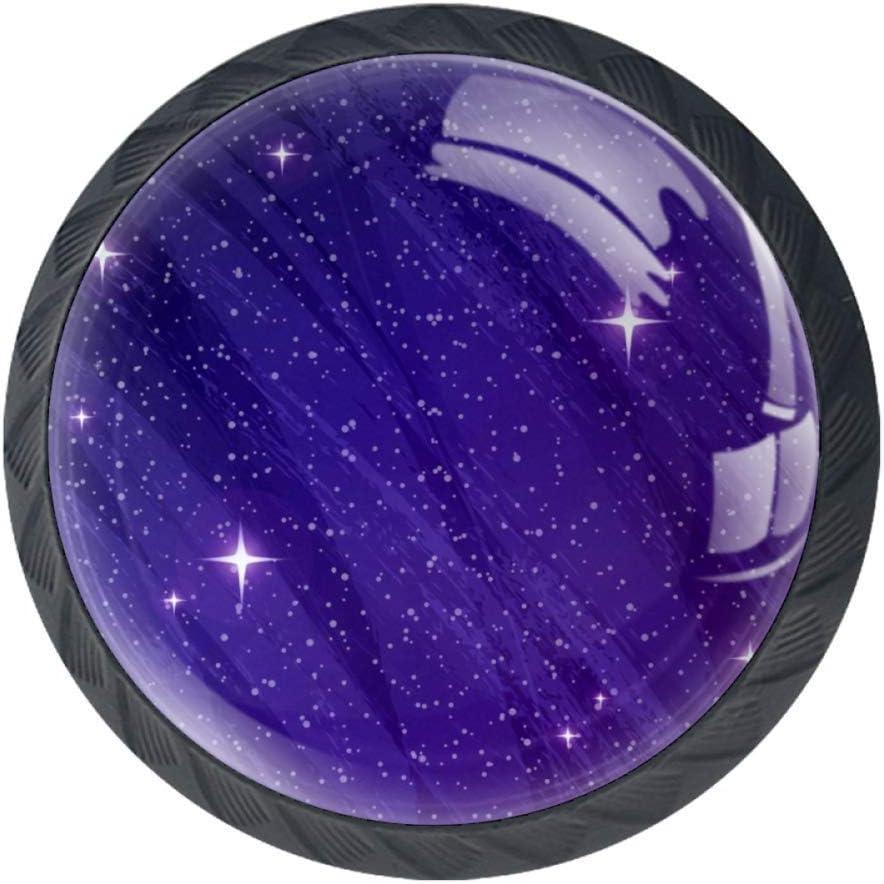 TIKISMILE Ultra Violet Galactic Background Hand Pull 5 ☆ Sale SALE% OFF popular Knob Drawer