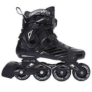 ZLSANVD Roller Skates Men Women's Inline Skates Sliding Freestyle Adult Roller Skating Shoes Skating Wheels 19 RS6-Black