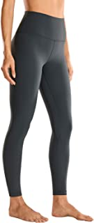 CRZ YOGA Women Matte Brushed Light Fleece Leggings Athletic High Waisted Squat Proof Yoga Pants -25 Inches