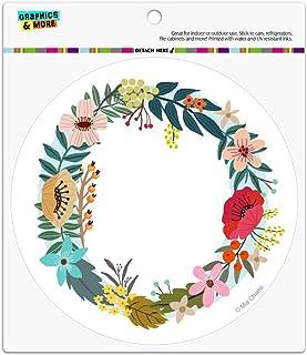 Graphics and More Letter O Floral Monogram Initial Automotive Car Refrigerator Locker Vinyl Circle Magnet