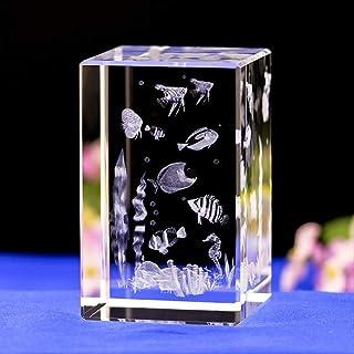 ZGPTX Crystal 3D Laser Statue Decor Gift Crystal Interior Carvings Seaworld Aquarium Aquarium Crystal Ornaments