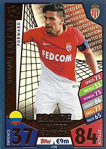 Match Attax Champions League 2017 / 18ファルカオFalcaoブロンズLimited Edition 2017年2018