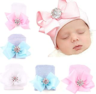 newborn hospital hats with bows