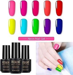 in verschiedenen Farben Neon Text Marker im Nagellack Design4er-Set
