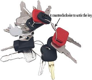 Set of 16 Construction Ignition Keys Universal Heavy Equipment Key fits JCB Kubota CAT Hyster Forklift John Deere etc