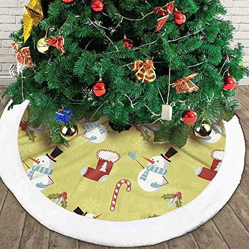 Kerstboom Rok, Sneeuwachtige Witte Boom Rok Xmas Boom Rok Winter Kerstmis Feestdecoratie Mat Vakantie Kerstmis Thema Ornamenten Voor School Leer Studenten