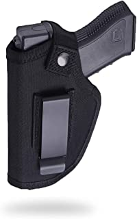 Fonrroni Concealed Carry Holster, Universal Holster, Inside The Waistband Bundle, Holster for Female/Male Fits S&W, M&P Shield/Glock 23,36,39,42,43/Ruger, Black