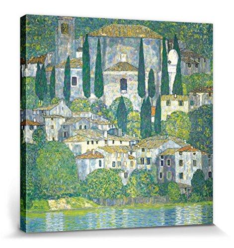 1art1 88429 Gustav Klimt - Kirche In Cassone Am Gardasee, 1913 Poster Leinwandbild Auf Keilrahmen 70...