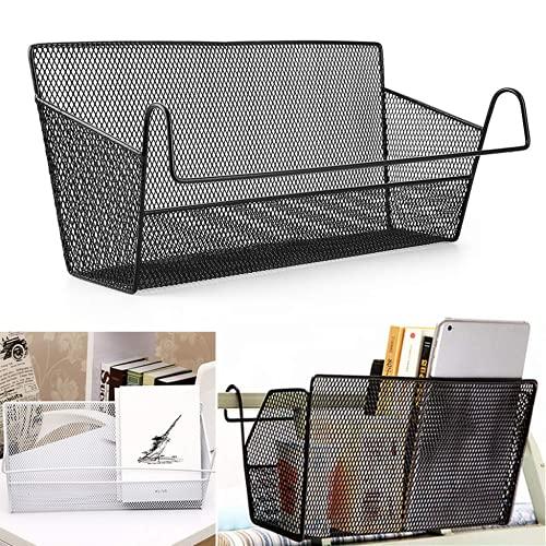 XUSHAN - Cestas de almacenamiento colgantes, mesita de noche, organizador de cama de dormitorio, soporte de almacenamiento de escritorio para casa, oficina, dormitorio, litera, color negro