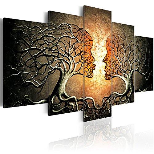 murando Handart Cuadro en Lienzo Arbol Amor 225x112 cm 5 Partes Cuadros Decoracion Salon Modernos Dormitorio Impresión Pintura Moderna Arte Abstracto h-A-0086-b-p
