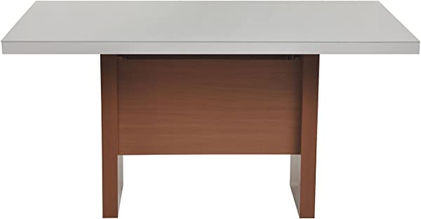 Manhattan Comfort 1013852 Dover Large Modern Dining Table 72 Inches Off Off White