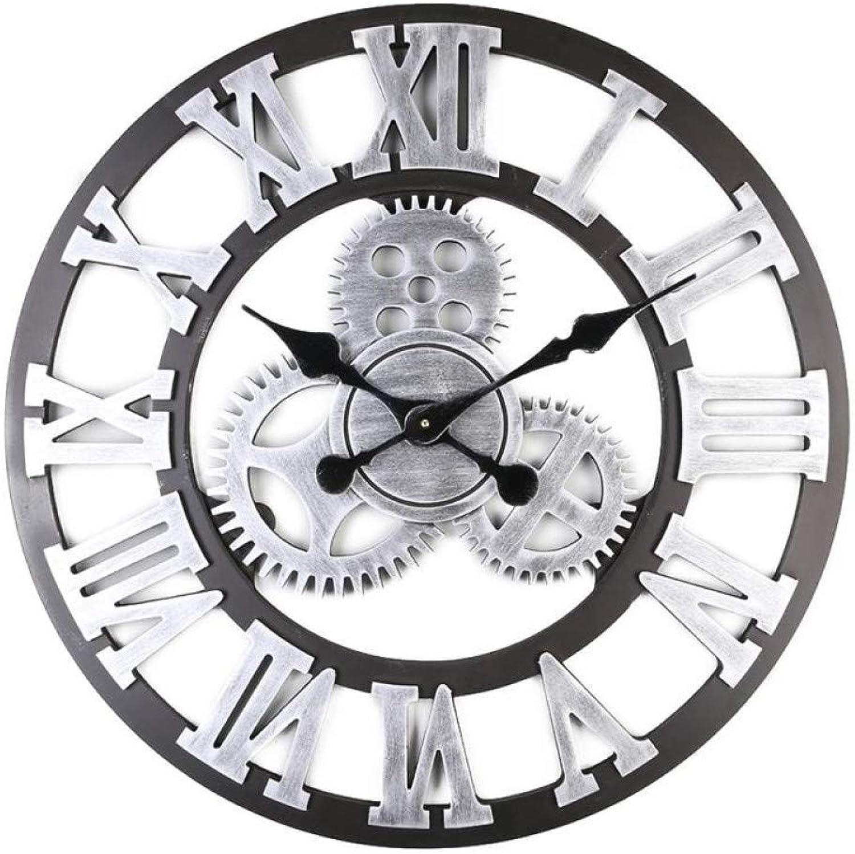 alta calidad XQY Relojes Relojes Relojes de Parojo, Relojes Retro Europeos de Relojería, Relojes Murales Decorativos de la Sala de Estar Americana, Reloj de Madera Creativo  venderse como panqueques
