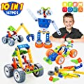 INSOON 10 in 1 STEM Toys for Kids Building Toys Kit Creative Construction Engineering Learning Toys for 5 6 7 8 9 Year Old Boys and Girls 167 Pcs DIY Building Blocks Toys for Birthday Christmas