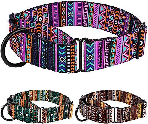 CollarDirect Martingale-Halsbänder für Hunde, robust, Tribal-Muster, verstellbar, weiches Sicherheitstraining, Nylon, breit, Größe M/L, M Neck Size 12