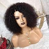 BLISSHAIR Parrucca Donna Capelli Veri Afro Kinky Curly Wig Glueless 4x4 Lace Front Human Hair Wig Short Curly Bob Wig Parrucca Riccia Vergini Veri Capelli Umani Brasiliani Naturali Lisci 18pollici