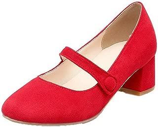Women's Solid Kitten-Heels Pumps-Shoes