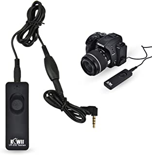 Kiwifotos RS-60E3 Remote Switch Shutter Release Cord for Canon EOS Rebel T6 T7 T5 T3 T7i T6s T6i T5i T4i T3i T2i T1i SL3 SL2 SL1,EOS 90D 80D 70D 77D 60D,EOS RP R M5 M6 Mark II SX70 HS SX60 HS & More