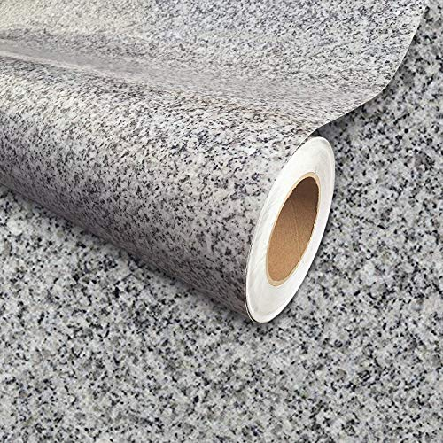 Instant Granite Luna Pearl Counter Top Film 36' x 72' Self Adhesive Vinyl Laminate Counter Top Contact Paper Faux Peel and Stick Self Application