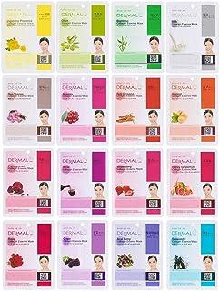 DERMAL Collagen Essence Full Face Facial Mask Sheet 01 (16 Count (Pack of 1))
