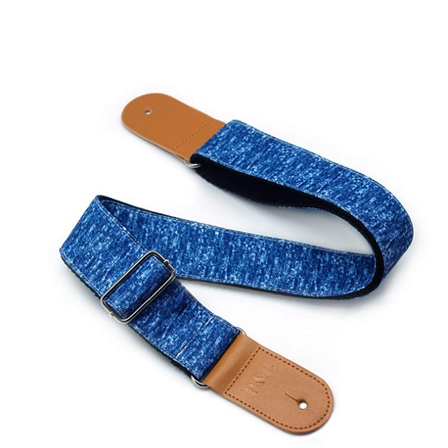Handmade Guitar Strap 82-138CM Adjustable Length 2 Inches Wide Woven Cotton Guitar Strap With Leather Ends For Men Women Kids Electric Acoustic And Bass Guitars For Electric, Acoustic, and Bass Guitar