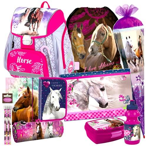 Einhorn Unicorn Pferd Pony Horse 13 Teile Set Schulranzen mit Sticker-von-Kids4shop Schultüte 85 cm RANZEN Tasche TORNISTER