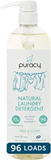 Puracy Natural Liquid Laundry Detergent, Hypoallergenic, Enzyme-Based, Free & Clear,..