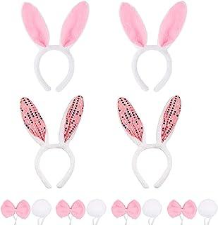 2 fasce per orecchie di coniglio pasquale accessori per capelli a forma di coniglio U//K Andeau di coniglio per la decorazione di costumi da festa