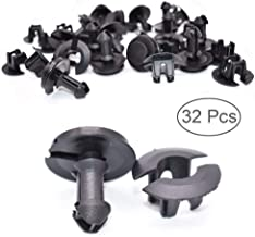 Front Air Deflector Retainer Clip & Grommets - 32pcs Front Air Dam and Front Lower Bumper Clips for GMC Sierra Chevrolet Silverado Yukon, Replacement for GM - OEM Original Parts