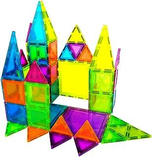 BMAG Magnetic Building Blocks, 3D Magnetic Building Tiles Set, STEM Preschool Magnet Tile Construction Toys Educational Puzzles 58 pcs
