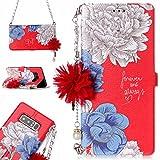 Samsung Galaxy Note 8 花柄 手帳型 ケース CrazyLemon PUレザー 綺麗 白い 青い バラ 赤い 手帳型ケース 花 ストラップ 付き ギャラクシーnote8 財布型 ケース 1枚 カードホルダー マグネット 横置き 機能 防塵 耐衝撃 柄04