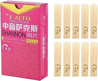 Elementary Eb Alto Saxophone Sax Reeds Strength 3.0 for Beginners, 10pcs/ Box