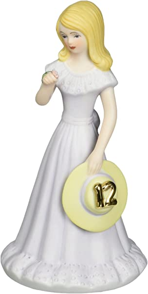 Enesco Growing Up Girls Blonde Age 12 Porcelain Figurine 5 75