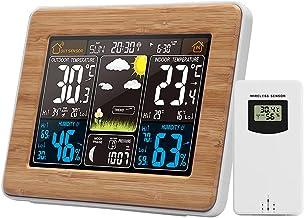 Romacci Cor Estação meteorológica interna/externa Temperatura sem fio Umidade Barômetro Termômetro Higrômetro Relógios de ...