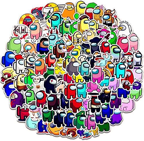 SunAurora Among US Aufkleber, 100 Stück Spiele, Anime Aufkleber, PVC-Graffiti-Aufkleber, geeignet für Koffer, Gitarren, Computer, Wasserflasche