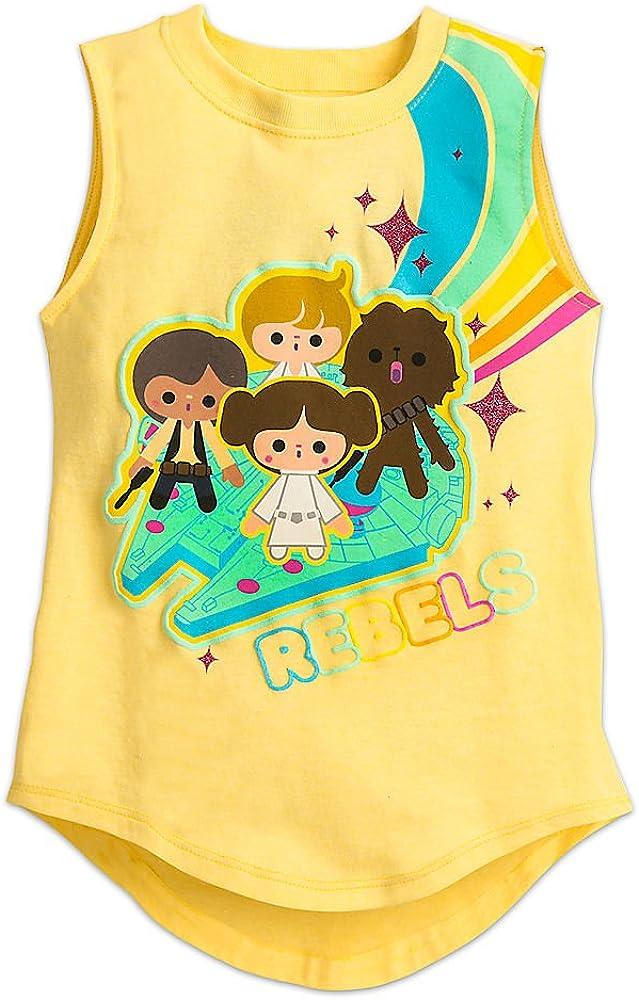 Star Wars Cuties Tank Tee for Girls Size XXS (2/3) Yellow