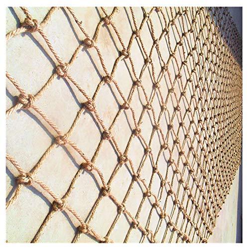 (6 Mm * 8 Cm) Redes De Seguridad, Redes Protectoras, Redes De Cuerda De Cáñamo Tejidas A Mano, Redes De Seguridad Para Escaleras Para Niños, Redes Decorativas, Redes De Seguridad(Size:1*4m (3*13ft))
