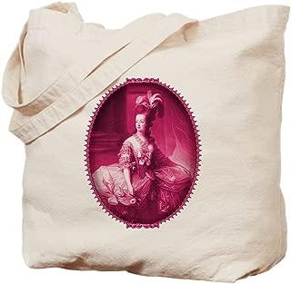 CafePress Marie Antoinette Pink Portrait Natural Canvas Tote Bag, Reusable Shopping Bag
