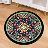 NHhuai Rugs Living Room Fluffy Modern Area Rugs Creative printing round floor mat door mat