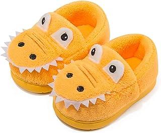 Nasogetch Chaussons Enfant Pantoufle Garçons Filles Chaussures de Maison Peluche Pantoufles d'hiver Dinosaure Mignon Bambi...
