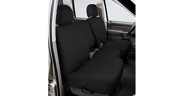 Covercraft SeatSaver Front Row Custom Fit Seat Cover for Select Nissan Frontier//Nissan Xterra Models Polycotton Charcoal SS2436PCCH