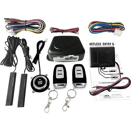 Easyguard Pke Fernstart Mit Schlüssellosem Einstieg Auto Start Mit Näherungssensor Druckknopf Startstopp Touch Passwort Eingabe Universal Auto Alarmanlage Dc 12v Auto