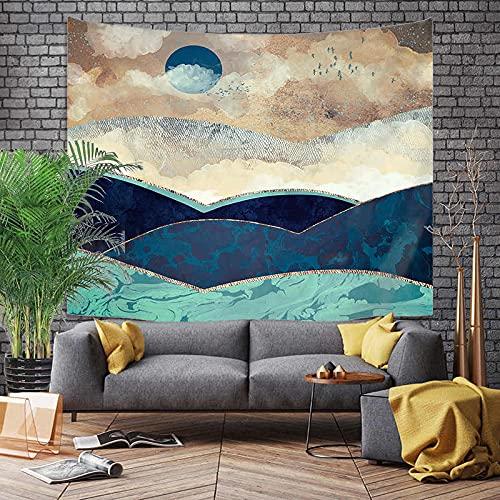 KHKJ Montaña Amanecer Pintura Tapiz Flor Colgante de Pared habitación Cielo Alfombra Dormitorio tapices Arte decoración del hogar Accesorios A1 200x150cm