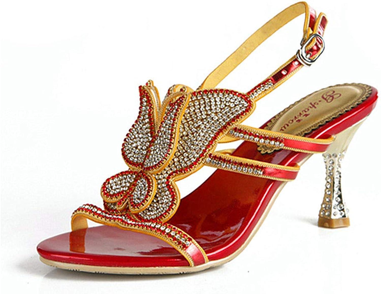 OEYW Sommer Strass Sandalen Frauen Frauen Openwork High Heel Sandalen Prom Party Schuhe Für Frauen Kleid Schuhe Freizeitschuhe  Kostenlose Lieferung und Rückgabe