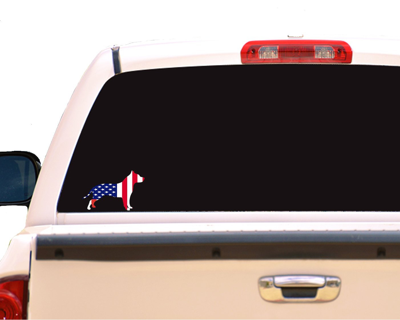 Pit Bull Bumper Sticker Perfect American Pit Bull Terrier Owner Gift WickedGoodz Die Cut American Flag Pitbull Decal