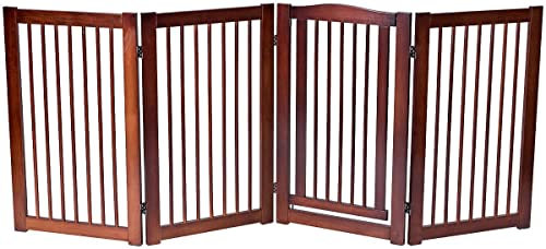 wholesale Giantex online sale 36'' Configurable Folding Free Standing Panel Wood Pet Dog Safety Fence w/Gate new arrival (88'' W) online sale