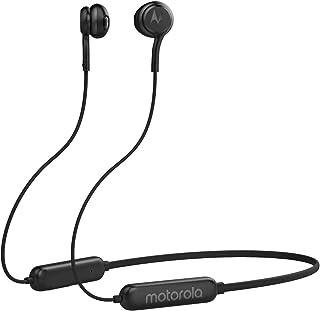 Motorola VerveRap 105 Sport, Wireless Bluetooth Waterproof Sport Earbuds with Anti-Lost Neck Strap - Black (Pack of1)