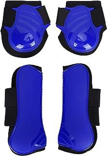 Peesbeschermers voor paarden (4 stuks - voor en achter), beenbeschermer voor paarden, PU-schaal verdikte elastische dempin...