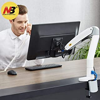 North Bayou Monitor Desk Mount Stand Full Motion Swivel Monitor Arm Gas Spring for 22''-35'' Computer Monitor from 6.6 to 19.8lbs
