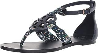 Women's Miller Flat Scarf Sandal Flat Shoes Navy Blue